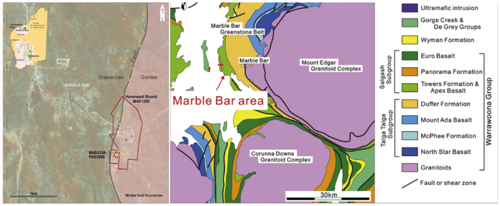 Regional geology of marble bar